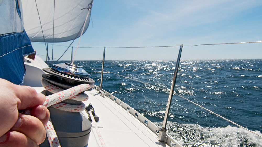 Wellspect Navina Sailboat on the open sea